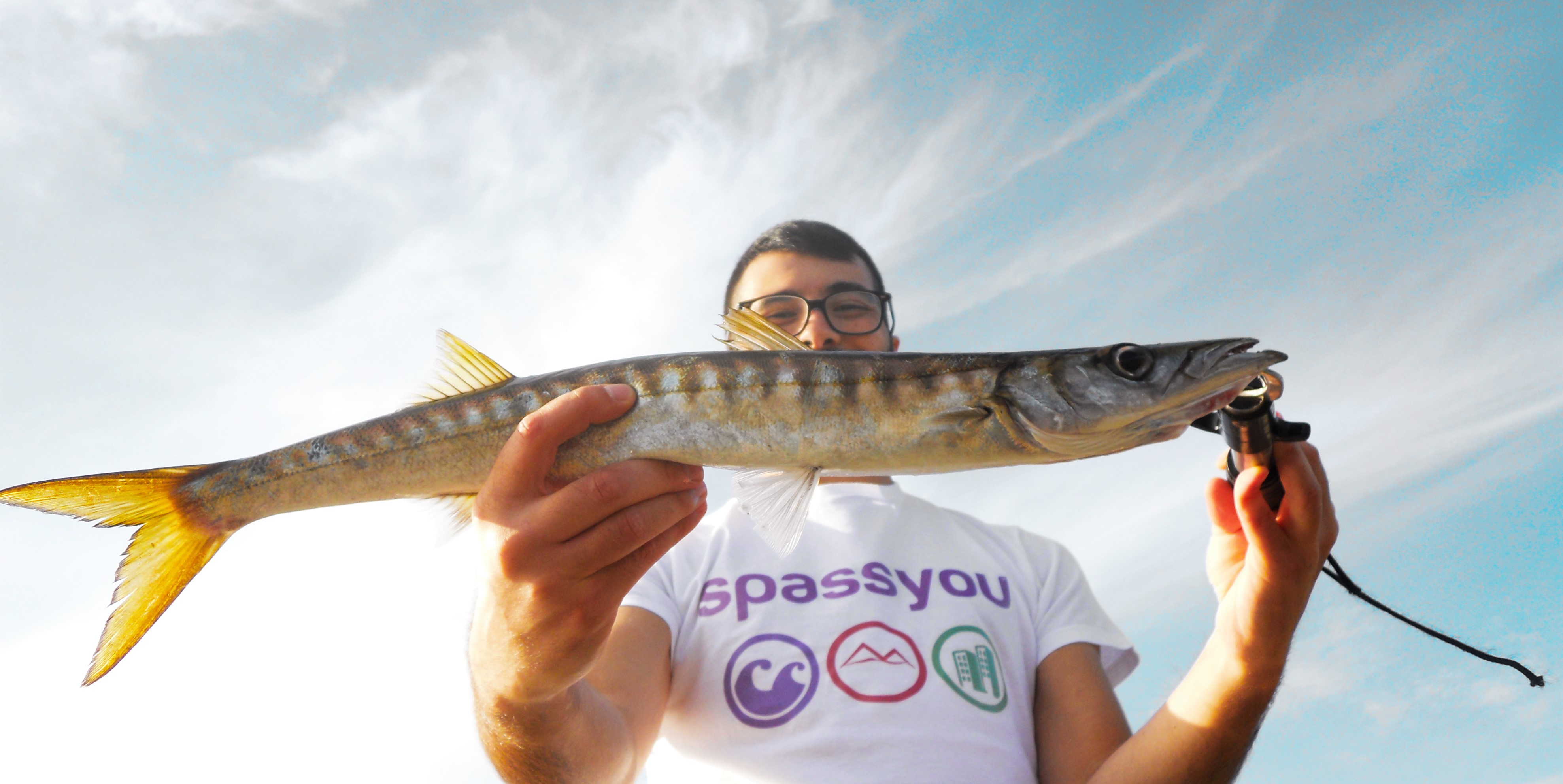 Casuale aggancio charter di pesca
